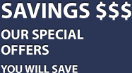 Savings $$$. Our special offers. You will save.