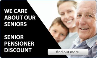 We care about our seniors - Senior Pensioner Discount